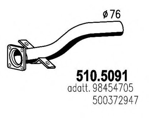 510.5091 Exhaust Pipe