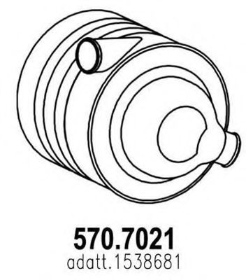 570.7021 Soot/Particulate Filter, exhaust system
