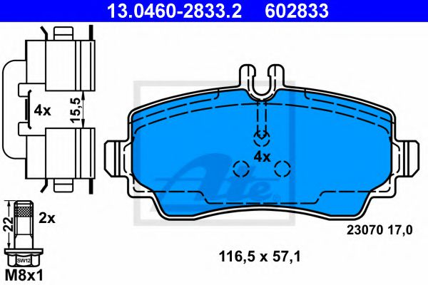 13.0460-2833.2 Brake System Brake Pad Set, disc brake