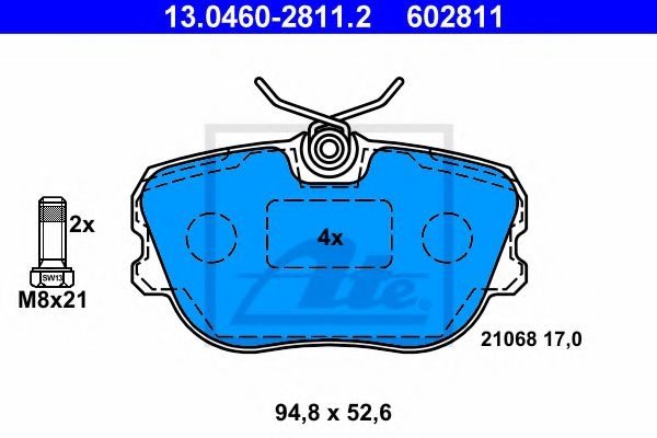 13.0460-2811.2 Brake System Brake Pad Set, disc brake