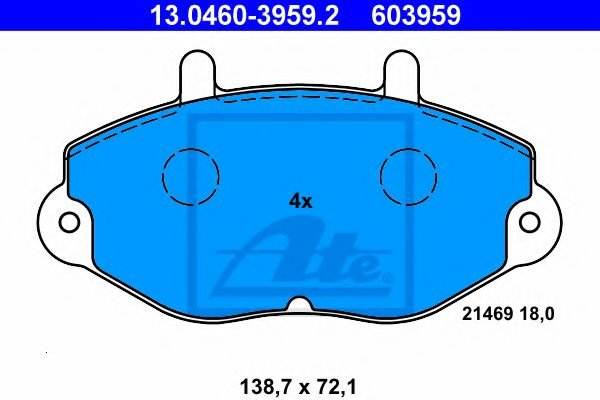 13.0460-3959.2 Brake System Brake Pad Set, disc brake