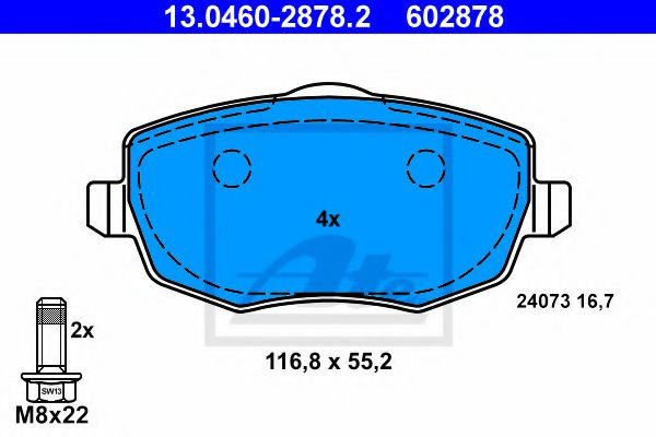 13.0460-2878.2 Brake System Brake Pad Set, disc brake
