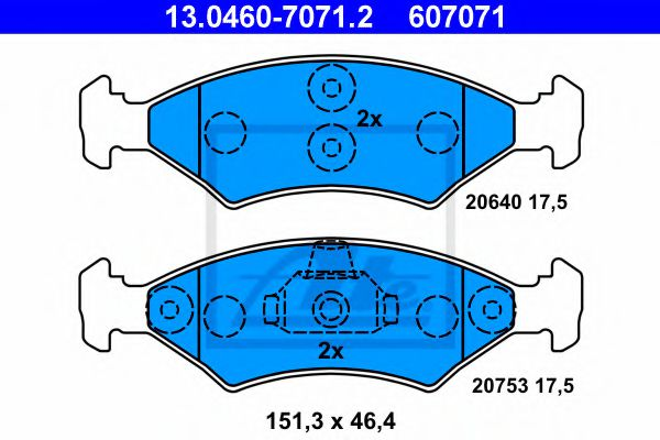 13.0460-7071.2 Brake System Brake Pad Set, disc brake