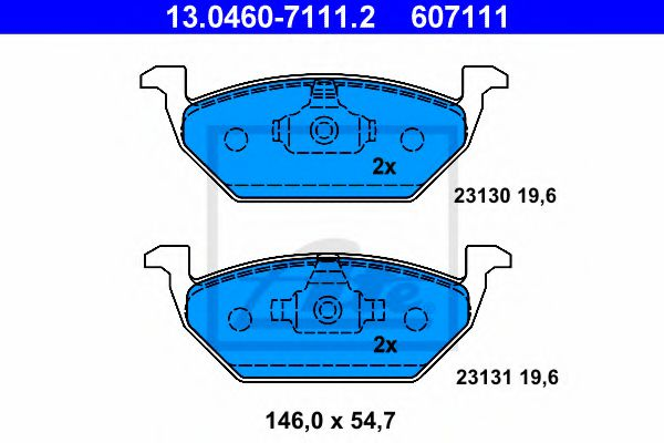 13.0460-7111.2 Brake System Brake Pad Set, disc brake