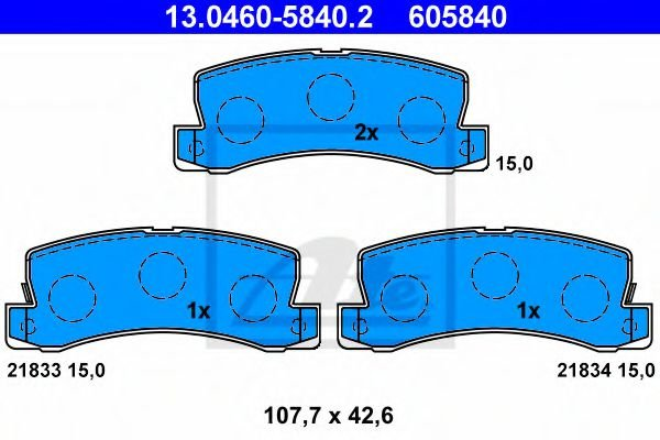 13.0460-5840.2 Brake System Brake Pad Set, disc brake