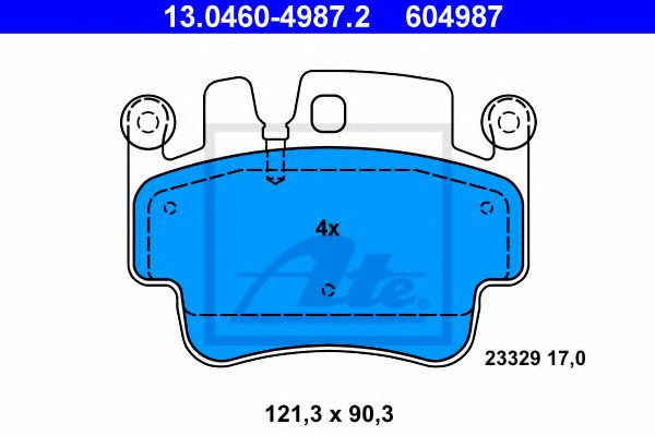 13.0460-4987.2 Brake System Brake Pad Set, disc brake