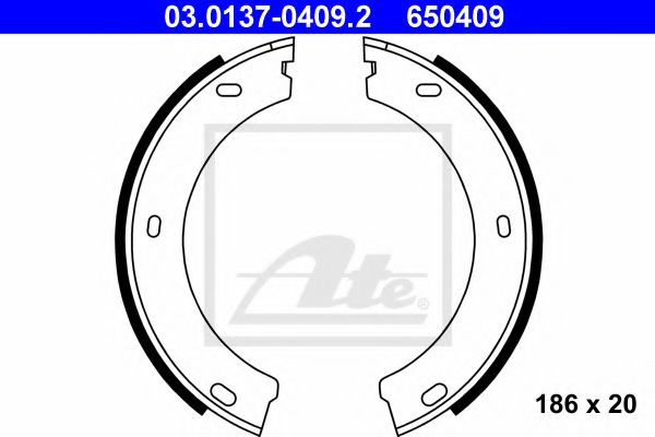 03.0137-0409.2 Brake System Brake Shoe Set, parking brake