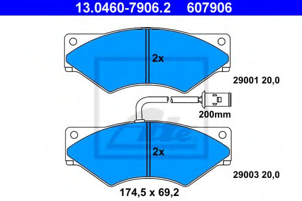13.0460-7906.2 Brake System Brake Pad Set, disc brake