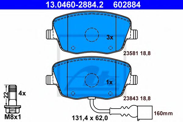 13.0460-2884.2 Brake System Brake Pad Set, disc brake