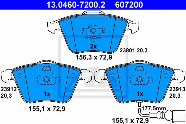 13.0460-7200.2 Brake System Brake Pad Set, disc brake