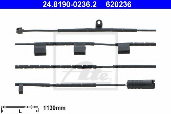 24.8190-0236.2 Brake System Warning Contact, brake pad wear