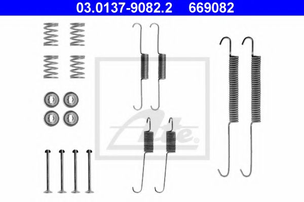 03.0137-9082.2 Brake System Accessory Kit, brake shoes