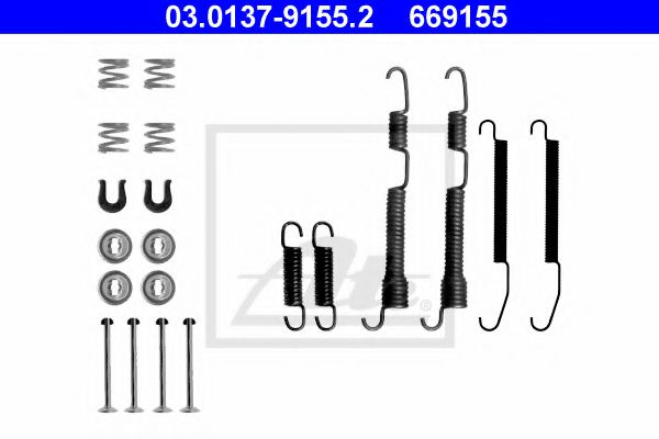 03.0137-9155.2 Brake System Accessory Kit, brake shoes