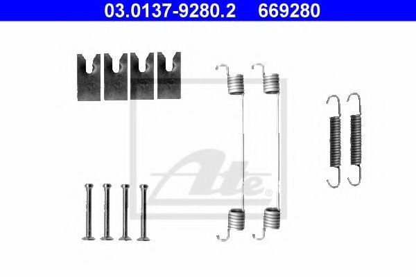 03.0137-9280.2 Brake System Accessory Kit, brake shoes
