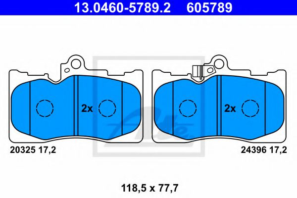 13.0460-5789.2 Brake System Brake Pad Set, disc brake
