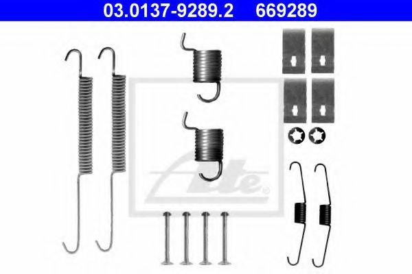 03.0137-9289.2 Brake System Accessory Kit, brake shoes