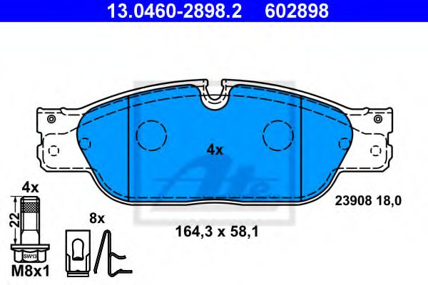 13.0460-2898.2 Brake System Brake Pad Set, disc brake