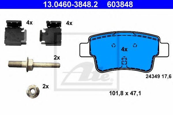 13.0460-3848.2 Brake System Brake Pad Set, disc brake