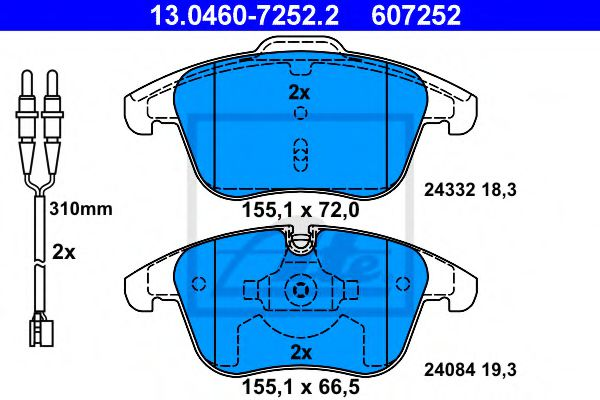 13.0460-7252.2 Brake System Brake Pad Set, disc brake