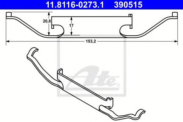 11.8116-0273.1 Brake System Accessory Kit, brake caliper