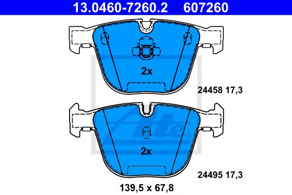 13.0460-7260.2 Brake System Brake Pad Set, disc brake