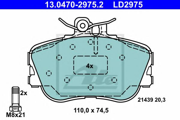 13.0470-2975.2 Brake System Brake Pad Set, disc brake