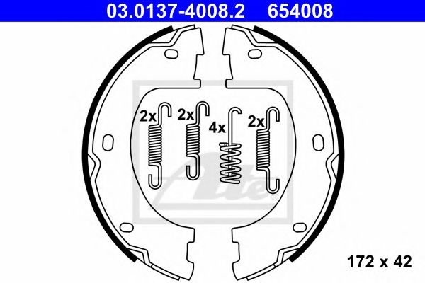 03.0137-4008.2 Brake System Brake Shoe Set, parking brake