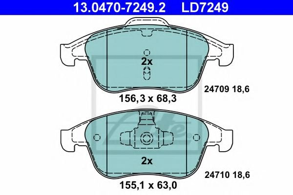 13.0470-7249.2 Brake System Brake Pad Set, disc brake