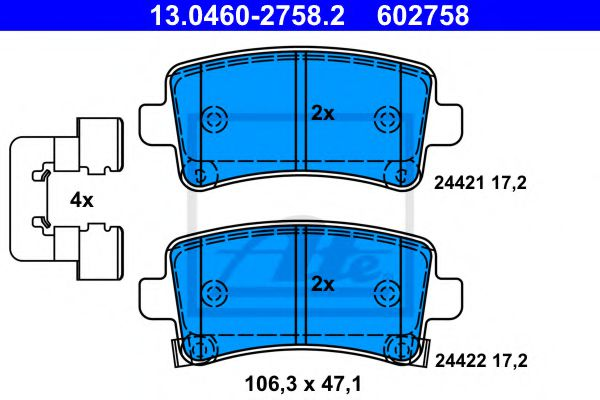 13.0460-2758.2 Brake System Brake Pad Set, disc brake