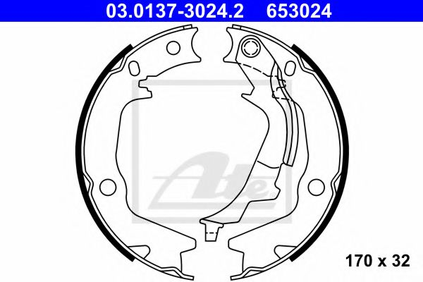 03.0137-3024.2 Brake System Brake Shoe Set, parking brake