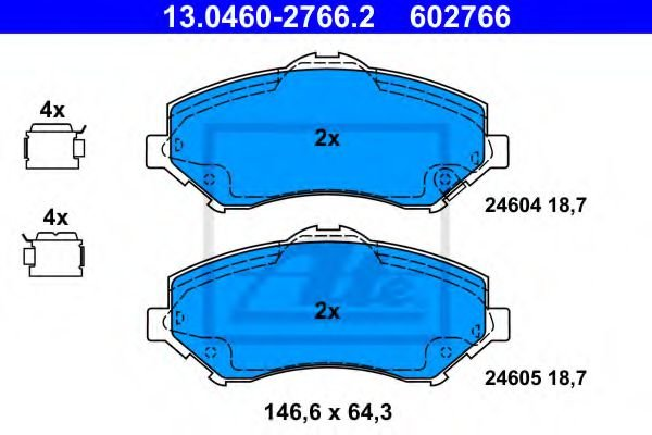 13.0460-2766.2 Brake System Brake Pad Set, disc brake