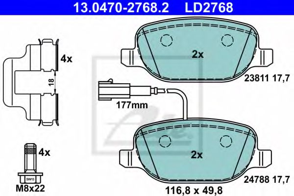 13.0470-2768.2 Brake System Brake Pad Set, disc brake