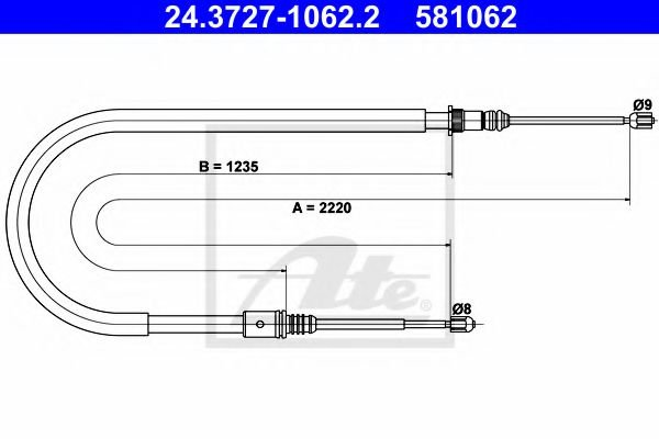 24.3727-1062.2 Cable, parking brake