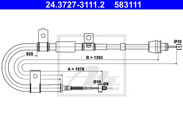24.3727-3111.2 Cable, parking brake