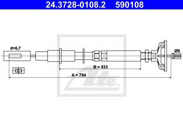 24.3728-0108.2 Clutch Clutch Cable