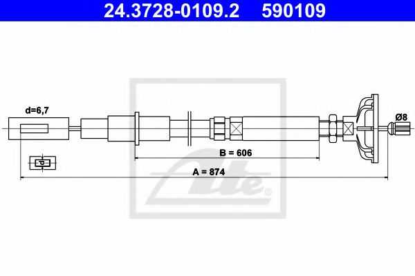 24.3728-0109.2 Clutch Clutch Cable