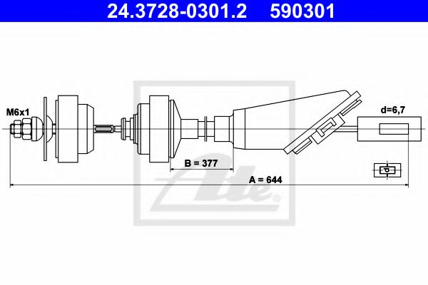 24.3728-0301.2 Clutch Clutch Cable