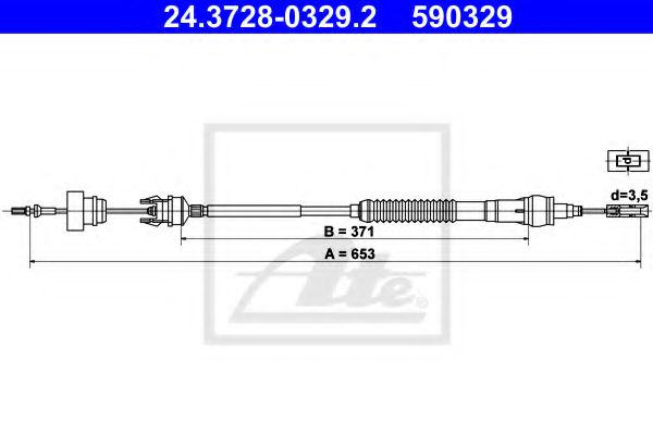 24.3728-0329.2 Clutch Clutch Cable