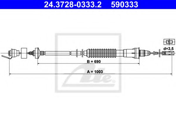 24.3728-0333.2 Clutch Clutch Cable