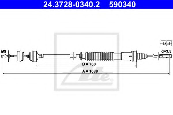 24.3728-0340.2 Clutch Clutch Cable