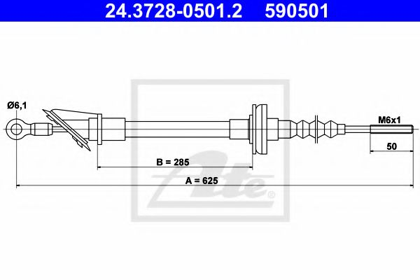24.3728-0501.2 Clutch Clutch Cable