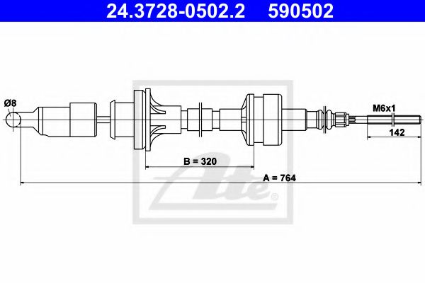 24.3728-0502.2 Clutch Clutch Cable