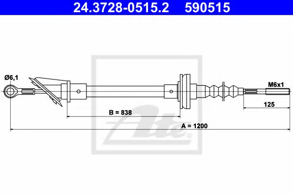 24.3728-0515.2 Clutch Clutch Cable