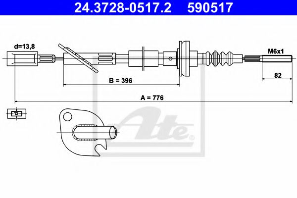 24.3728-0517.2 Clutch Clutch Cable