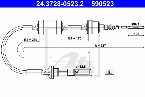 24.3728-0523.2 Clutch Clutch Cable