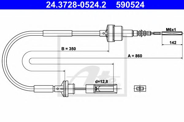 24.3728-0524.2 Clutch Clutch Cable