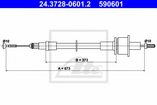 24.3728-0601.2 Clutch Cable