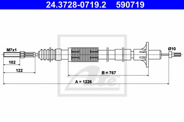 24.3728-0719.2 Clutch Clutch Cable