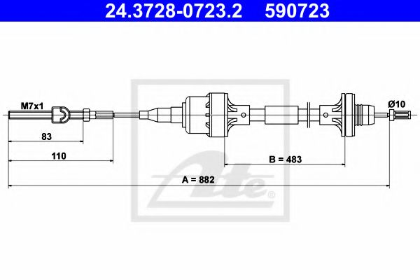 24.3728-0723.2 Clutch Clutch Cable