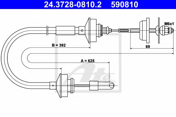 24.3728-0810.2 Clutch Clutch Cable